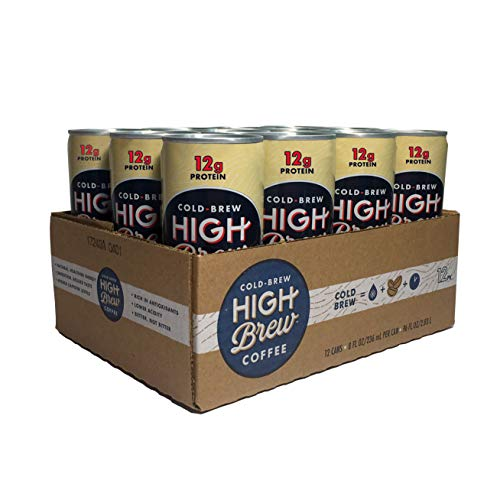High Brew Cold Brew Coffee Creamy Cappuccino Plus Protein, 8 Fl Oz, Pack of 12