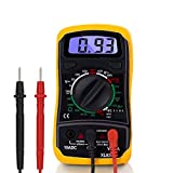 LCD Digital Multimeter Voltmeter Ammeter AC DC OHM Current Circuit Tester Buzzer 2.7' Large Backlit LCD Display, Data Hold, Auto Polarity, Easy to Read Large Back-Light Screen