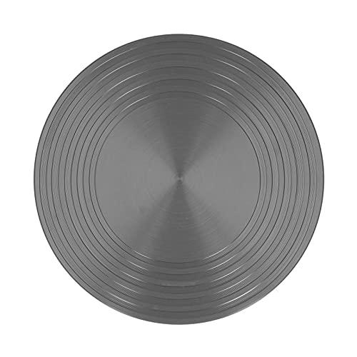Cryfokt 24CMx4MM Placa De Inducción De Difusor De Calor para Estufa De Gas Eléctrica Placa Conductora Térmica Antideslizante De Aluminio Bandeja De Descongelación para Alimentos Congelados