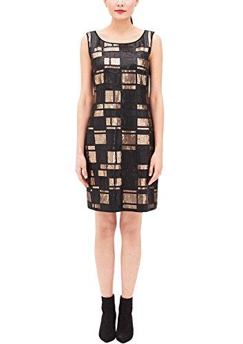 s.Oliver BLACK LABEL Damen 29711827046 Kleid, Beige (Brown Embroidery 84L2), 36
