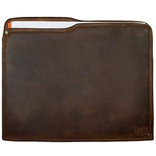 Hide & Drink, Rustic Leather Manila Folder, Document Holder/Office & Work Essentials Handmade, Includes 101 Year Warranty :: Bourbon Brown