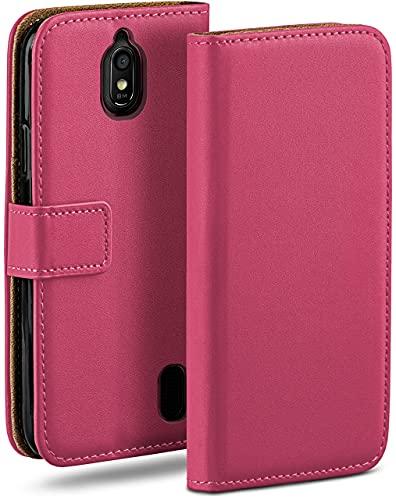 moex Klapphülle für Huawei Y625 Hülle klappbar, Handyhülle mit Kartenfach, 360 Grad Schutzhülle zum klappen, Flip Hülle Book Cover, Vegan Leder Handytasche, Pink