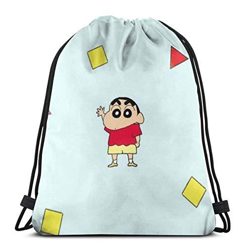 wusond Classic Drawstring Bag-Cute Crayon Shin-chan Gym Backpack Shoulder Bags Sport Storage Bag for Men Women