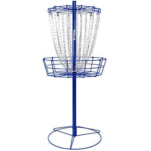 Remix Double Chain Practice Basket for Disc Golf (Royal Blue)