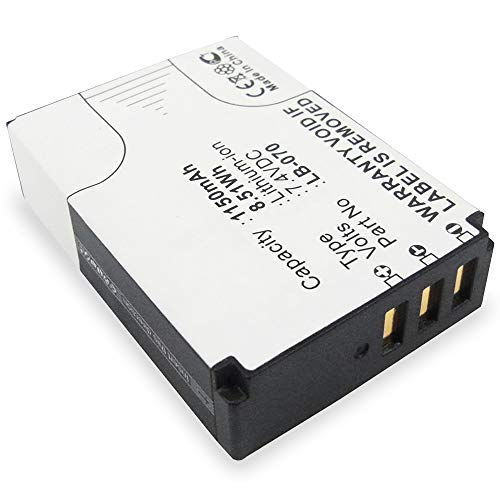 subtel® Batería Premium Compatible con Kodak PixPro AZ651 Astro Zoom, PixPro AZ652 PixPro AZ901 Pixpro S-1 PixPro S1, LB-070 1150mAh bateria Repuesto Pila