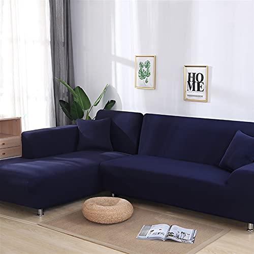WXYNT Sofa Cover Spandex Solide Farbe Elastische Ecke Sofa Slipcover Stuhl Protector Wohnzimmer 1/2/3/4 Sitzer (Color : I, Specification : 2 seat 145-185cm)