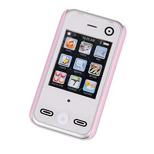 Spielzeug Handy 8 cm mit Sprache verschiedene Töne Handyschale Lila Hülle Smartphone Kindertelefon Kinder Handy Batterien Kinder Mädchen Telefon Rollenspiel Spieltelefon Spielhandy Smart Phone ab 3J