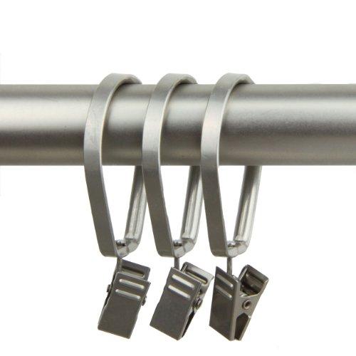 Rod Desyne Curtain Pivot Rings for 1-Inch Rod, Satin Nickel, Set of 10