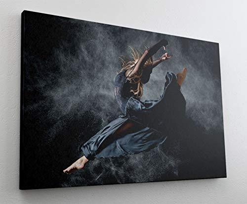 Fotografie Frau Tanz Kleid Leinwand Canvas Bild Wandbild Kunstdruck L1972 Größe 70 cm x 50 cm