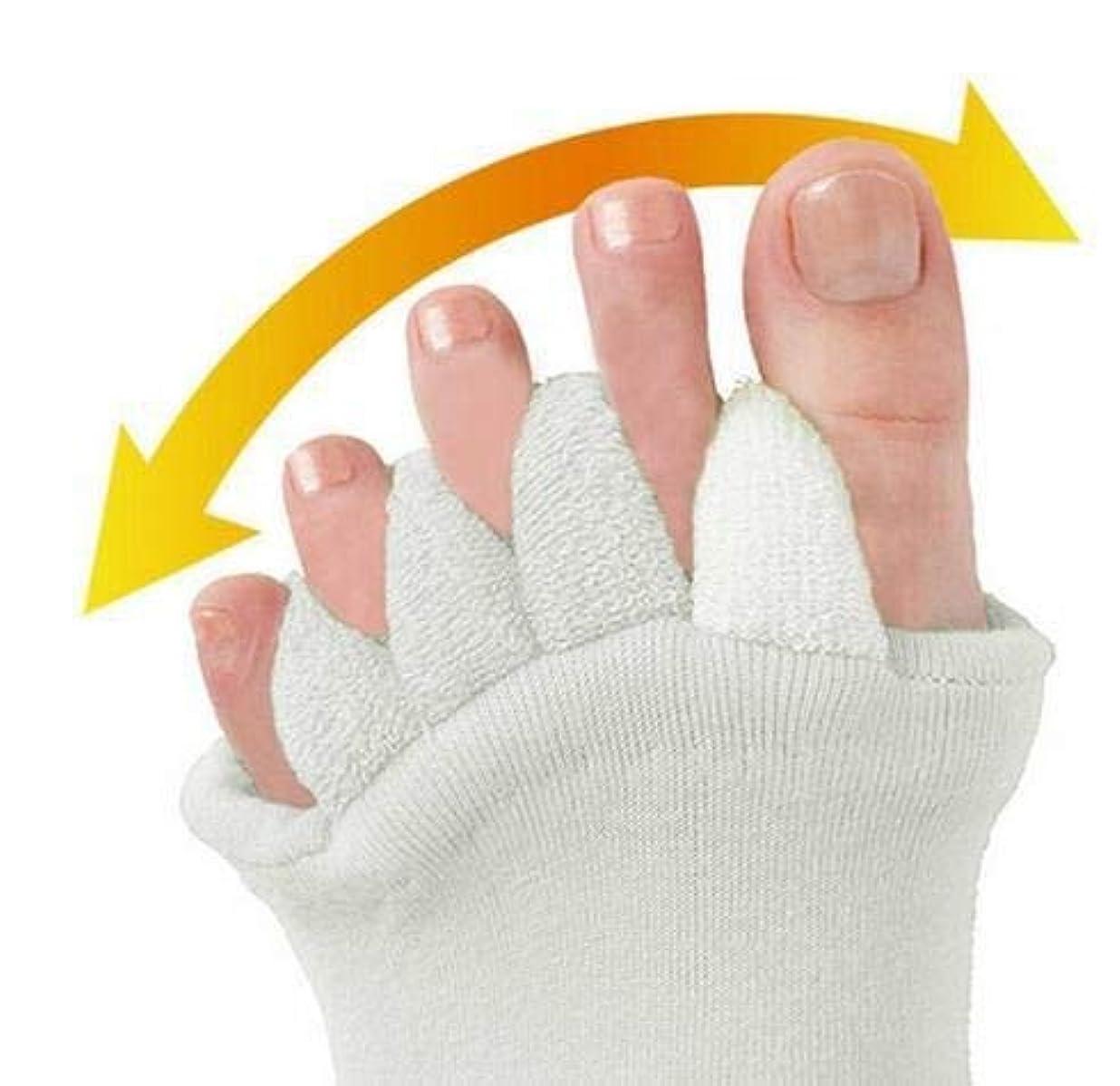 近くアクティブ間に合わせつま先セパレーターヨガスポーツ5つま先セパレーターソックスアライメント痛み健康マッサージソックス、防止足のけいれん、1ペア