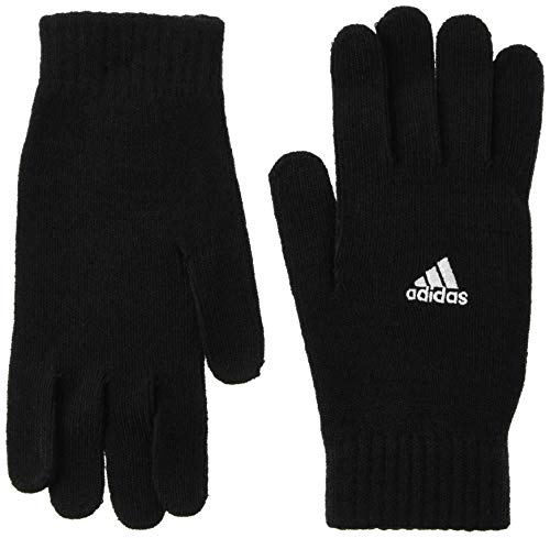 adidas TIRO Soccer Gloves, Black/White, L