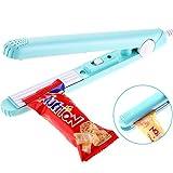 Leinuosen Food Bag Heat Sealer Handheld Bag Sealer with Storage Box for Airtight Food Storage Supplies (Blue)
