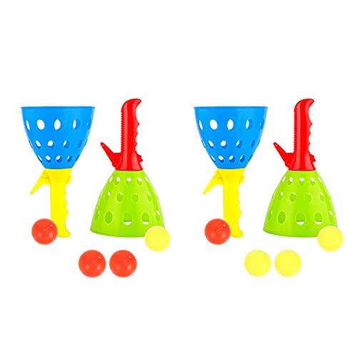 BESPORTBLE Juego de pelota de pesca para niños con 4 vasos de pesca, Pong Ball, juego interactivo para padres y niños, pelotas de tenis de mesa, juguetes para jardín, parque o playa