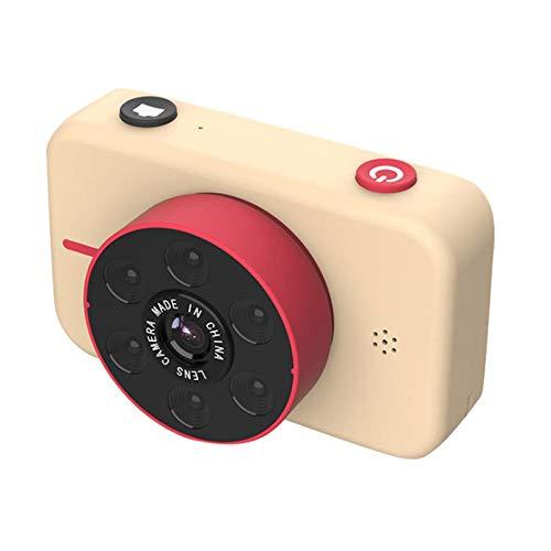 NROCF 4K High-Definition-Mini-Kinderkamera - Vorder- Und Heck-Dual-Kamera 5000W Pixel Kinder-Digitalkameras Kinderspielzeug,Gold,Standard