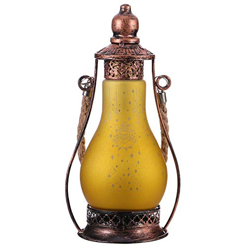 Baluue Christmas LED Vintage Lantern Christmas Decorative Lamp Oil Lamp Handle Portable for Holiday Home Outdoor Desktop Decoration (Size 1)