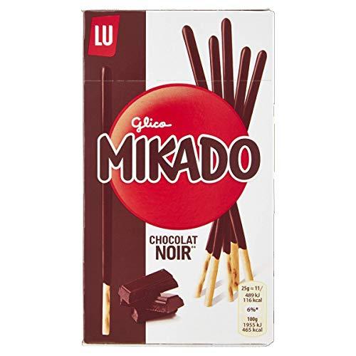 Lu Mikado Biscotti Ricoperti di Cioccolato Fondente, 75g