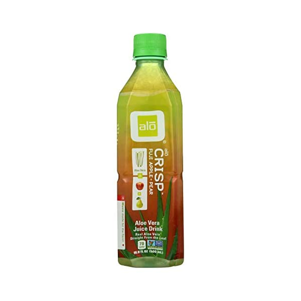 alo Aloe Vera Drink – Crisp – Fuji Apple and Pear – 16.9 oz – 12 Pack Beverages Fuji Apple