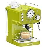 Oursson Macchina da Caffè Espresso Manuale, Cappuccino, Latte, Moka, 15 Bar, 1.25 litri, 3 Anni di Garanzia (Lime)