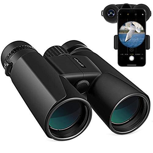 APEMAN 10X42 HD Prismáticos Profesionales con Prismas BaK4 y FMC,Ideales para Observación de Aves, Caza, Eventos Deportivos, Viajes y conciertos con Adaptador de Teléfono