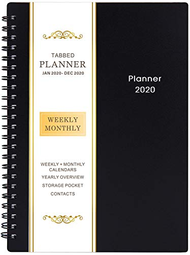 2020 Planner - Weekly & Monthly Planner, Flexible Cover, 12 Monthly Tabs, 21