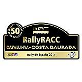Pegatina Placa Fia WRC Rallye DE ESPAÑA 2014 PR406 Catalunya Costa DAURADA
