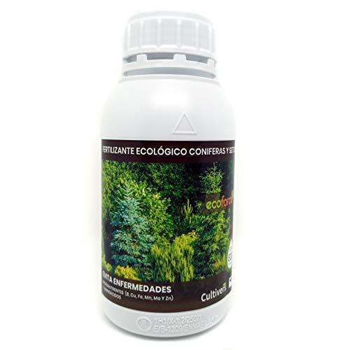 CULTIVERS ECO10F00205 - Fertilizzante Liquido per Conifere e Siepi Ecologico, Concime 100% Biologico e Naturale, Evitare Malattie, Arbusti Vigorosi, Fogliame più Verde, 500 ml