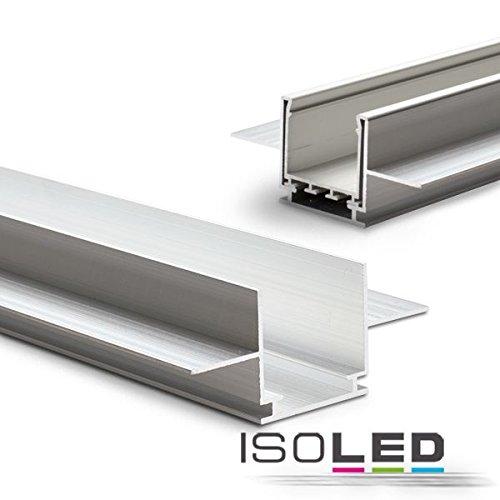 IsoLED Installationskanal für Einbauprofile Wing, L: 2000mm für 12,5mm Rigips-Platten