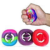 Stress Relief Snapper Fidget Toy, 3 Pack Hand Grip Squeeze Grab Snap Click Finger Sensory Toys,Party Popper Noise Makerfor Autism Special Needs Stress Reliever Anxiety Relief for Kids and Adults