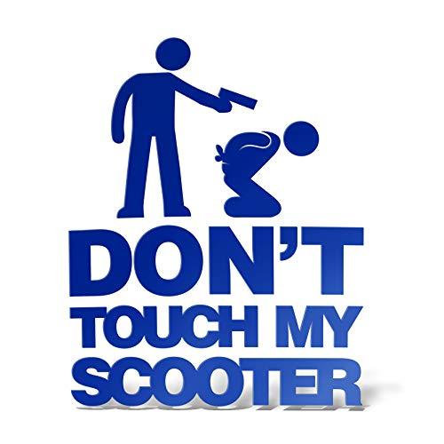 Erreinge Sticker Do not Touch My Scooter Dub Tuning Jdm Bleu Schriftzug Pvc Pour Moto Silencieux casque pare-brise - 35 cm