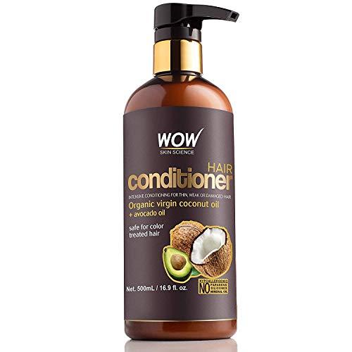 WOW Acondicionador para el cabello sin parabenos ni sulfato de aceite de coco y aguacate - 500 ml