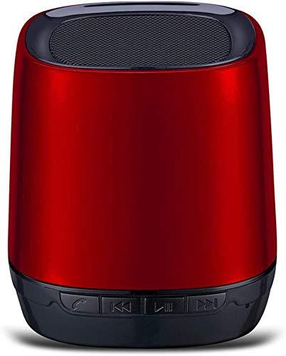 Mopoq Wireless Bluetooth Lautsprecher Audio - Subwoofer Auto Bewegliche Mini drahtlose Telefonkarte Kleine Lautsprecher Kleine Lautsprecher / 62X62X65mm Lautsprecher (Color : Rot)
