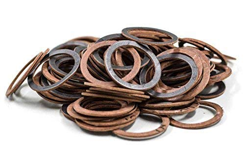KINETICS LINE Joint Plat 1 1/2 Pouce (44.5 x 36 x 2 mm) 100 Pièces Type Klingersil AC 35600 (Jusqu'À 200°C) Renforcé de Fibres d'aramide Kevlar®