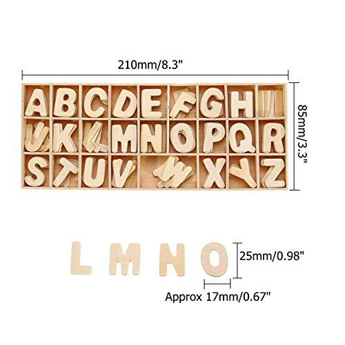 156 recreatiewoningen te spelen met kinderen vroegtijdig onderwijs gaven, om de 6 houten letters, alfabet scrabble letters, educatief speelgoed voor kinderen