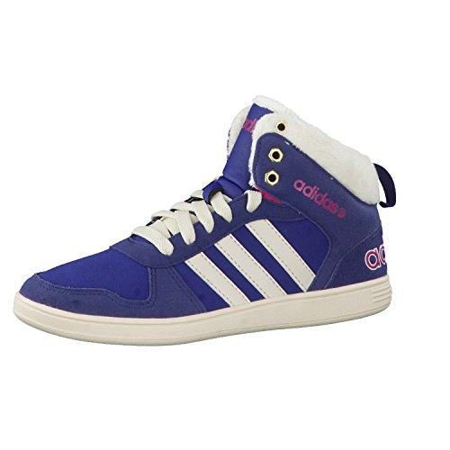 adidas Neo gefütterte Kinderschuhe Sneaker Winterschuhe Boots HOOPS WTR MID K , Größe:32