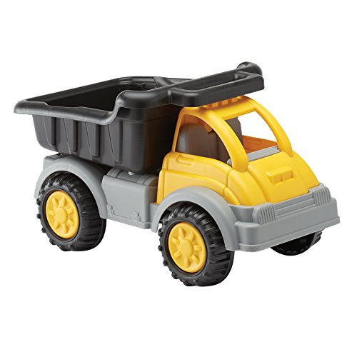 American Plastic Toys Kids' Yellow Gigantic Dump Truck, Tilting Dump Bed, Knobby Wheels, and Metal Axles Fit for Indoors and Outdoors, Haul Sand, Dirt, or Toys, for Ages 2+
