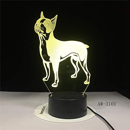 3D Nachtlicht,Optische Illusion Led Nachtlampe Usb Tischlampe, Für Kinder Weihnachten Geburtstag Beste Geschenk Spielzeug Schattenhund