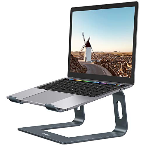 Nulaxy Laptop Stand, Ergonomic Aluminum Laptop Mount Computer Stand, Detachable Laptop Riser Notebook Holder Stand Compatible with MacBook Air Pro, Dell XPS, Lenovo More 10-15.6' Laptops - Space Gray