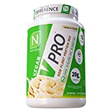 NutraKey V-Pro, Raw Plant Protein Powder, Organic, Vegan, Low Carb, Gluten Free with with 20g of Protein (Vanilla Cookie) 1.78-Pound.