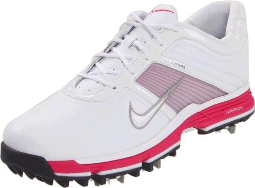 Nike Golf Women's Nike Lunar Links-W, White/Metallic Silver, 6 W US