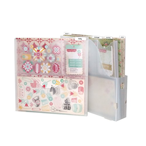 Storage Studios Vertical Variety Pack of Paper Holders for Up To 12 x 12 Inch Paper and Supplies, Clear (CH92604)