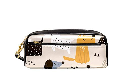 Mexicaanse Suikerschedels met Chili Peper Op Blauwe Achtergrond Pen Potlood Bag Case Houder Cover, School Office Accessoires Student Stationery 8