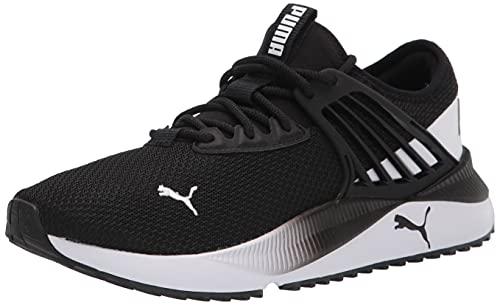 PUMA Men's Pacer Future Sneaker, Black White, 9.5