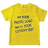 lepni.me Maglietta per Bambini/Ragazzi Regalo Personalizzato Personalizzato, Aggiungere Il Logo Aziendale, Il Proprio Design o Foto (3-4 Years Giallo Multicolore)