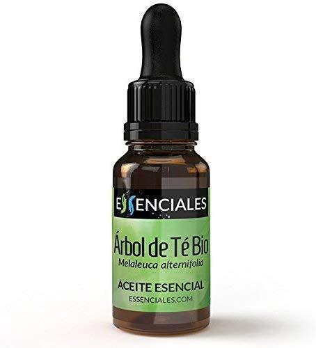 Essenciales - Aceite Esencial de Árbol de Té BIO, 100% Puro y con Certificado ECOLÓGICO, 10ml | Aceite Esencial Melaleuca Alternifolia - Tonificante, Antiséptico y Antifúngico
