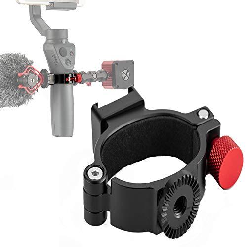 """1/4\"""" O-Ring Hot Shoe Adapter mit Gewindeverlängerung, kompatibel mit DJI Osmo Mobile 2 und Osmo Mobile 3, Angewendet auf Rode Videomikrofon und LED Lichtzubehör über 2 Cold Shoe Mount"""