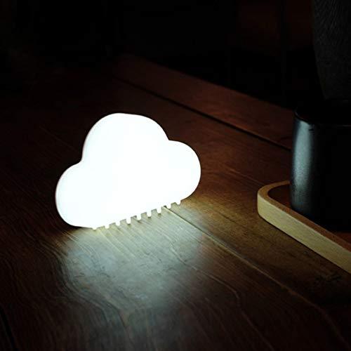 Novedad, Forma de Nube, luz Nocturna, lámparas de Pared inalámbricas, LED, USB, Sensor de Voz, lámpara (Blanco)