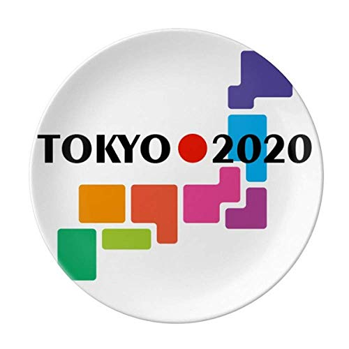 Japanische Flagge Sonne Tokio Spiele Teller Dekorative Porzellan Salver Geschirr Abendessen Geschirr
