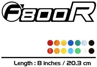2 X Combustible del Tanque Ruedas Bici de la Motocicleta carenado Notebook Equipaje Casco Moto de la Etiqueta engomada for BMW F800R Mei Racing Color : Black