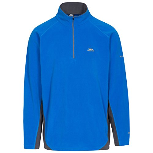 Trespass Tron Micro-Polaire Homme, Bleu, FR : XXS (Taille Fabricant : XXS)