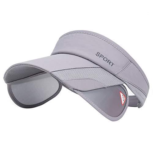 Summer Sun Visor Hat - Women Adjustable Golf Cap with Retractable Brim, UV Protection Beach/Tennis Sport Hat (Gray)
